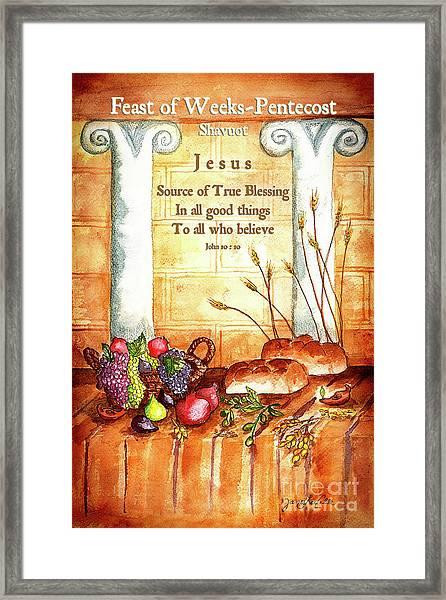 Feast Of Weeks - Pentecost Framed Print
