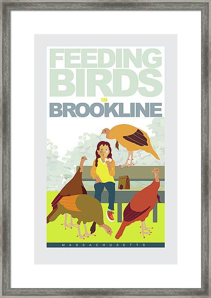 Feeding The Birds Framed Print