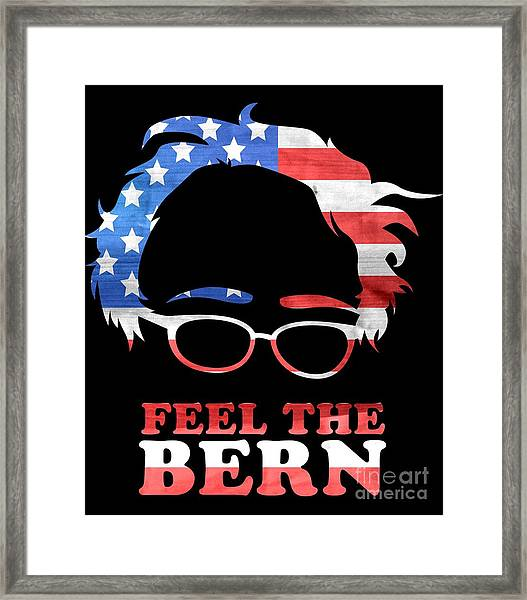 Feel The Bern Patriotic Framed Print