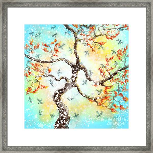 Feng Shui Your Life - 100 Birds Framed Print by Remy Francis