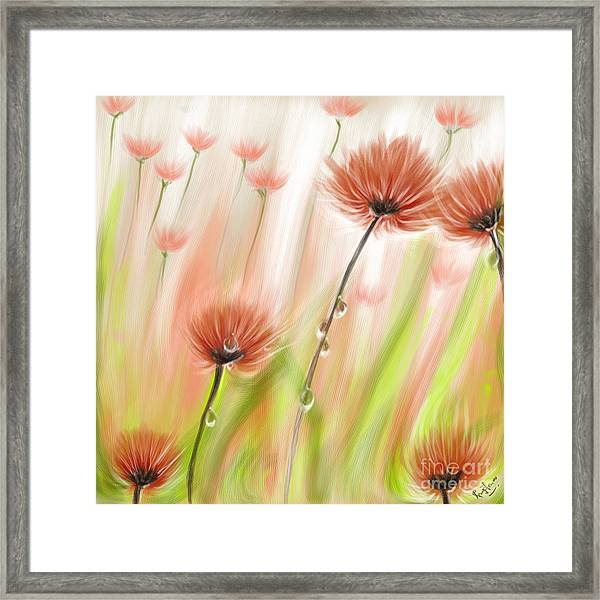 Feng Shui Your Life Dew Drops In The Wind Framed Print by Remy Francis