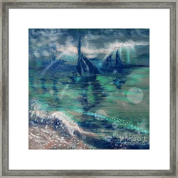 Feng Shui Your Life - Lucky Sailing Boat Framed Print by Remy Francis