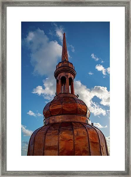 Fera Palace Copper Capital Framed Print