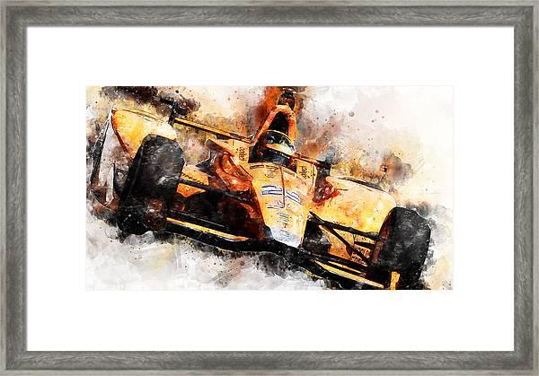 Fernando Alonso, Indy 500 - 04 Framed Print
