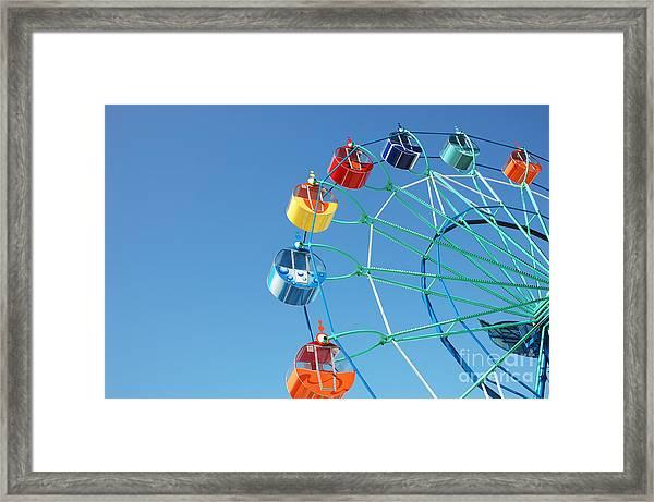 Ferris In Spring Park Framed Print