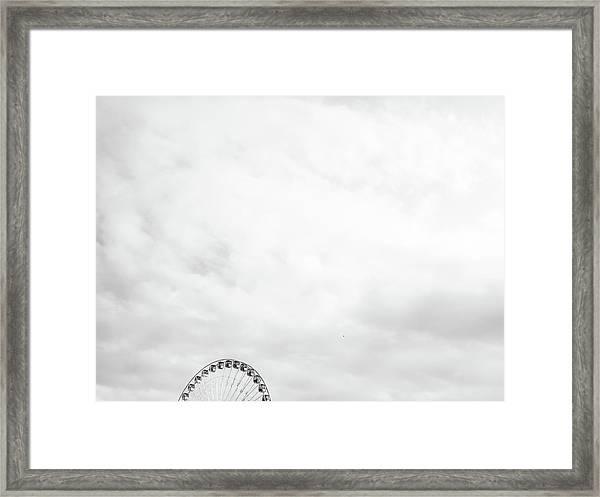 Ferris Wheel Clouds Framed Print