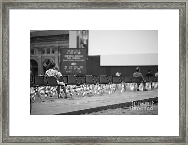 Few People At Open-air Cinema Hall Framed Print