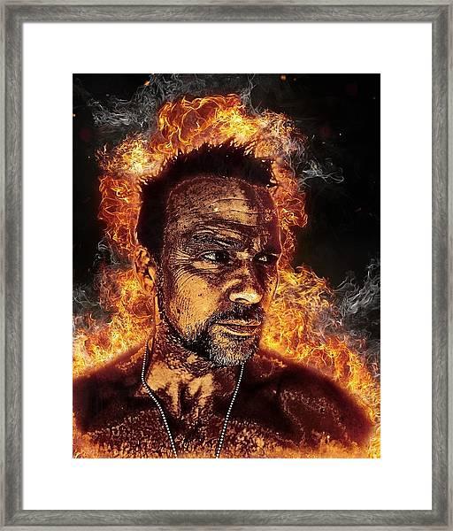 Fiery Flanery Framed Print