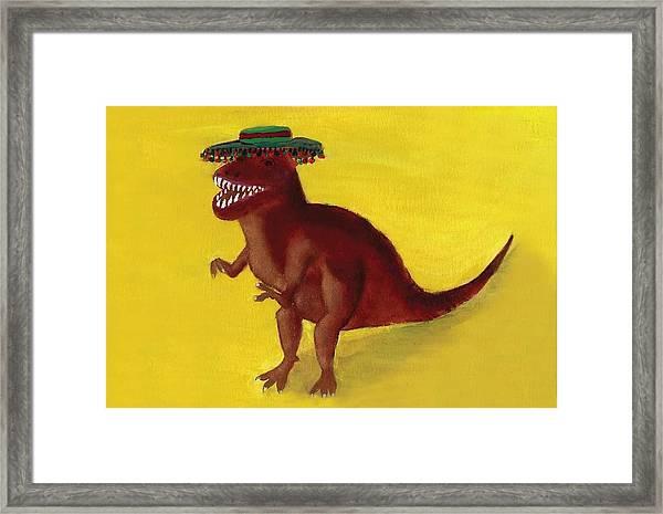Fies-t-rex Framed Print