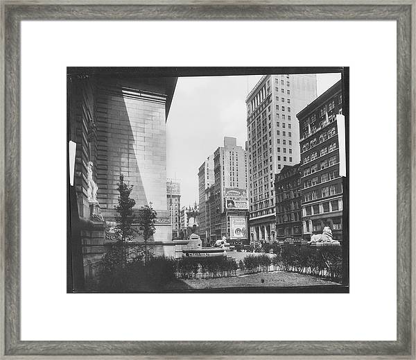 Fifth Avenue Looking Towards 42nd Street Framed Print