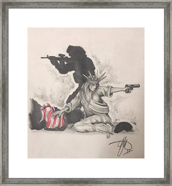Fighting For Liberty  Framed Print
