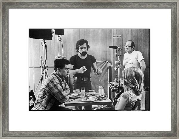 Filming Taxi Driver Framed Print by Fred W. McDarrah