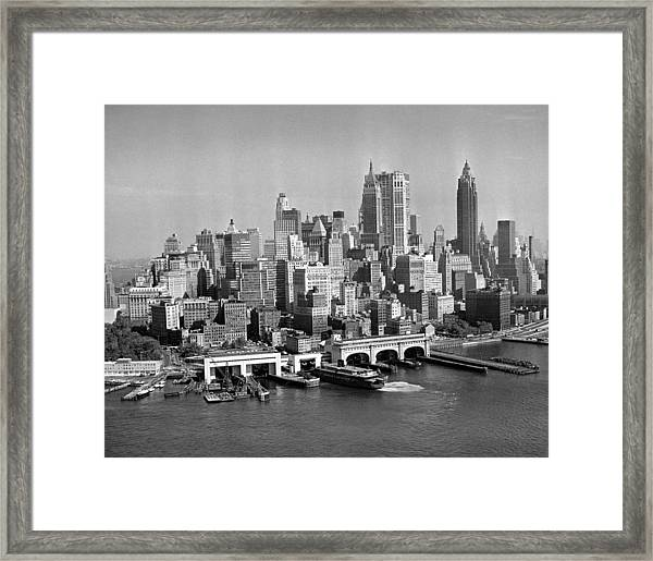 Financial District Cityscape Framed Print