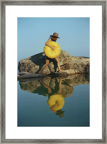 Finding A Spot Framed Print by Slim Aarons