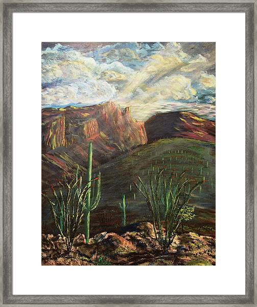 Finger Rock Morning Framed Print