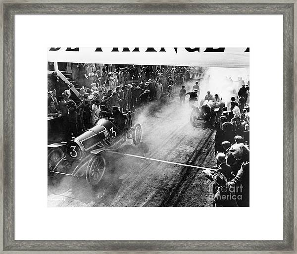 Finish Line At Auto Race Framed Print