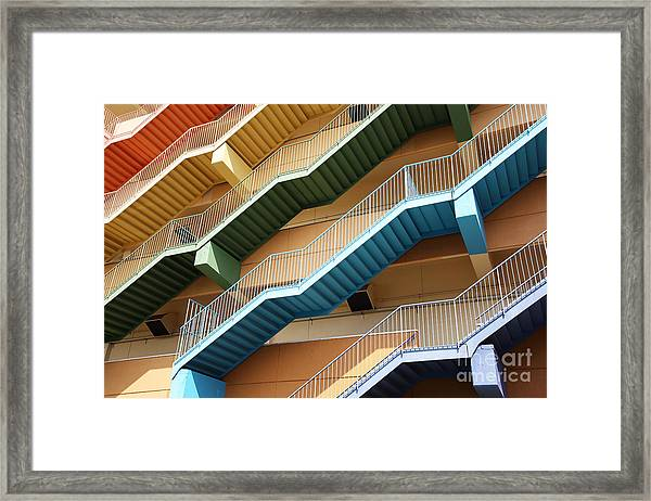 Fire Escape Stairs, Background Framed Print