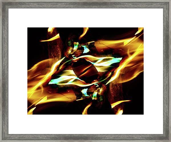 Fire Eye Framed Print