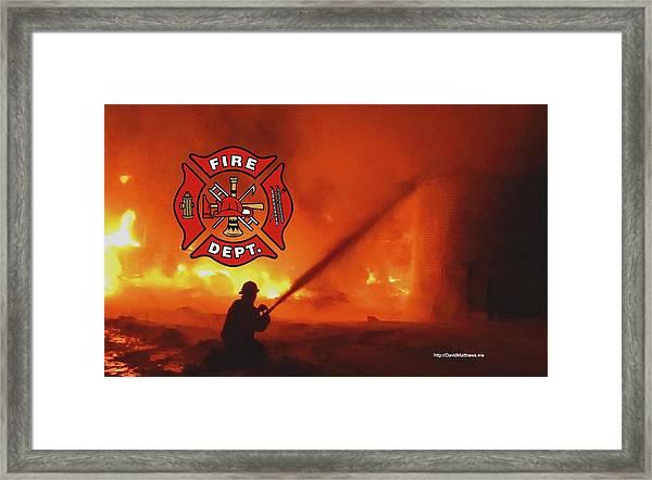Fire Fighting 5 Framed Print