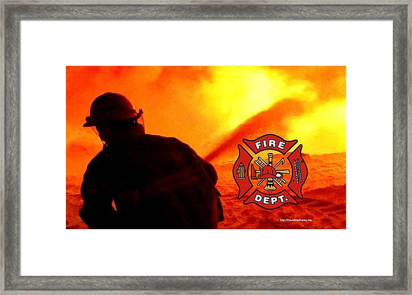 Fire Fighting 6 Framed Print