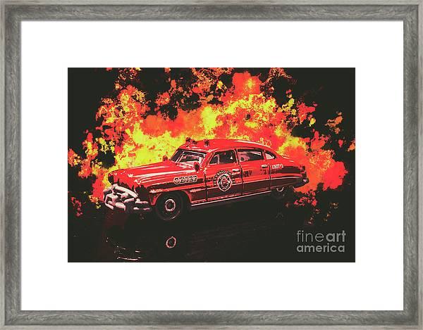 Fire Hornet Framed Print