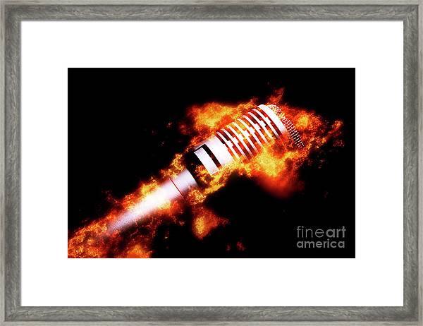 Fire It Up Framed Print