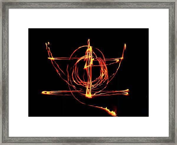 Fire Light Drawing Framed Print