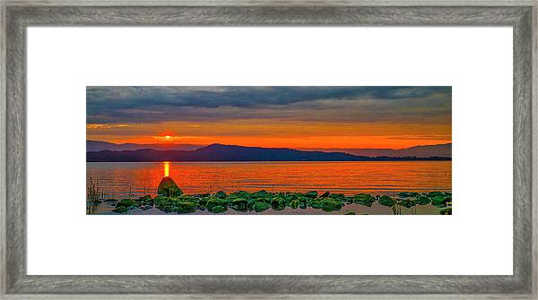 Fire Rock Framed Print