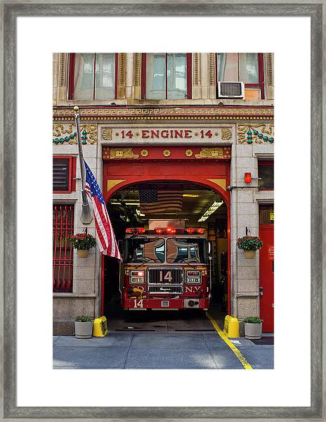 Fire Station, Gramercy District, New Framed Print