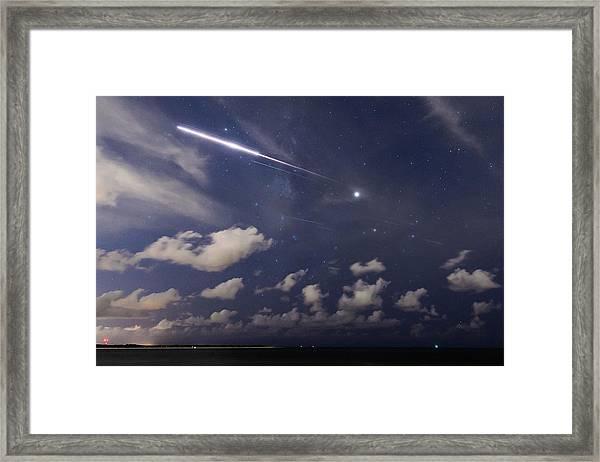 Fireball In The Sky Framed Print