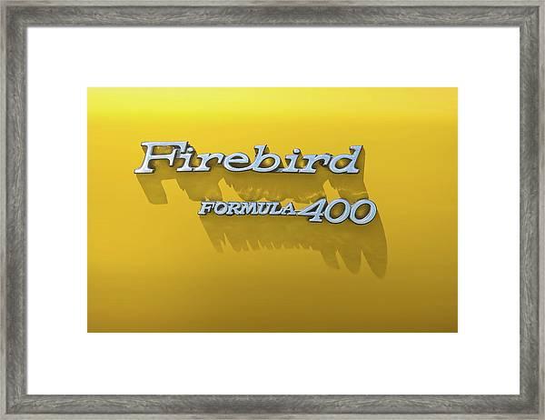 Firebird Formula 400 Framed Print