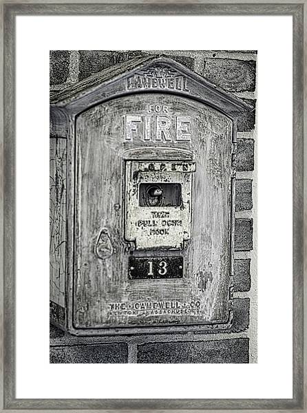 Firebox Framed Print