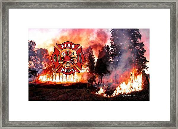 Firefighting 2 Framed Print
