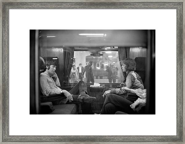 First Class Travel Framed Print