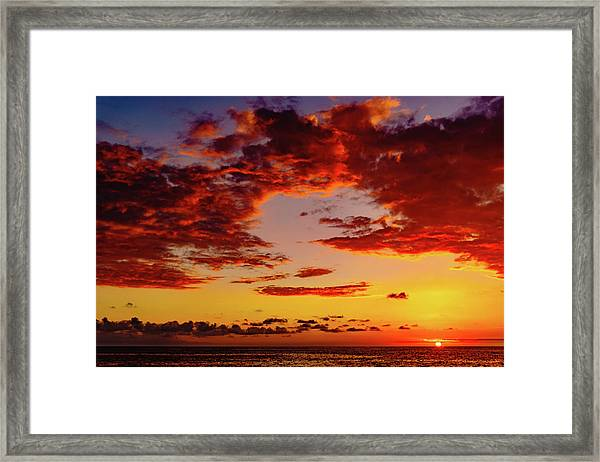First November Sunset Framed Print