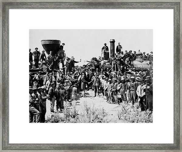 First Opening Of The Transcontinental Railroad - 1869 Framed Print