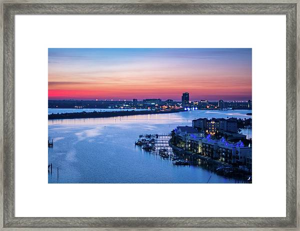 Firstlight Over Clearwater Framed Print
