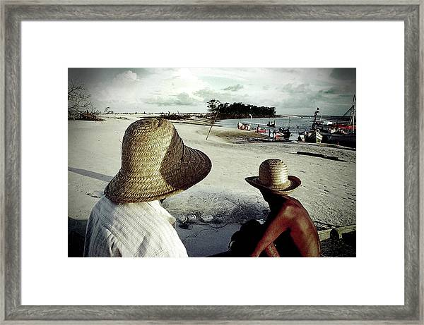 Fishermen In Ajuruteua, Brazil Framed Print by Ricardo Lima