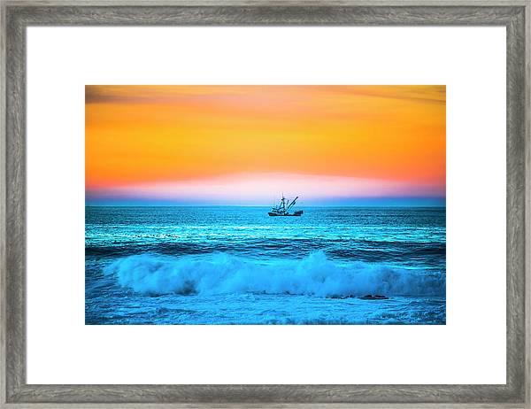 Fishing Boat Framed Print by Fernando Margolles