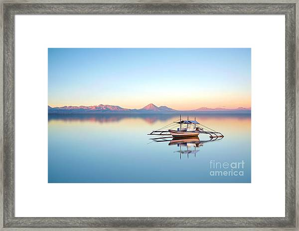 Fishing Boat On Philippine Ocean On A Framed Print