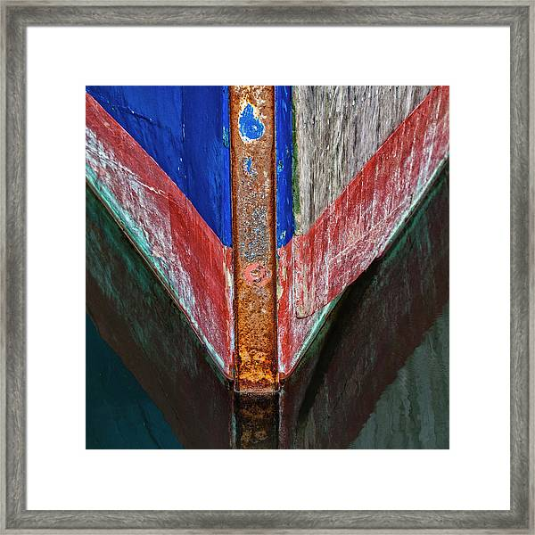 Fishing Boat Prow Framed Print