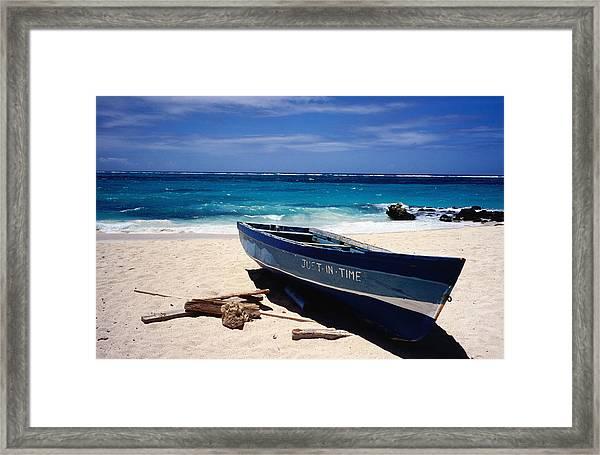 Fishing Boat, Sam Lords Beach Framed Print
