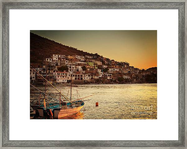 Fishing Boats In Mexico Framed Print