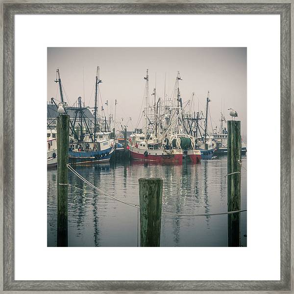 Framed Print featuring the photograph Fishing Boats by Steve Stanger