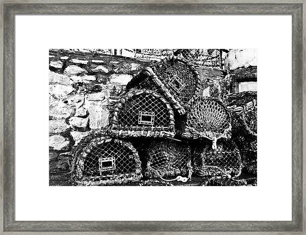 Fishing Cages Framed Print