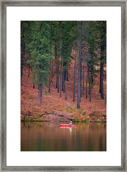 Fishing Fenton Lake Framed Print