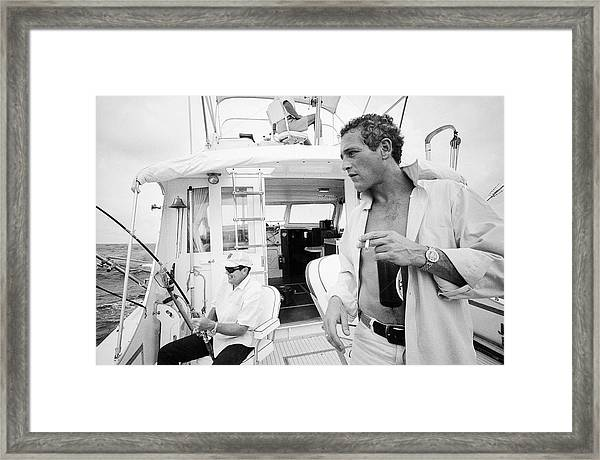 Fishing With Paul Newman Framed Print