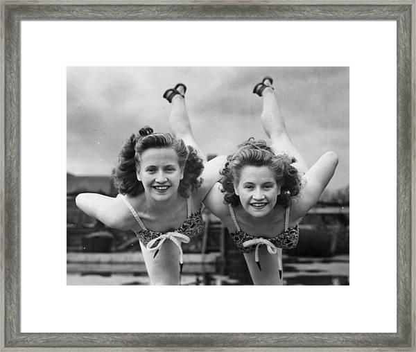 Fit Twins Framed Print