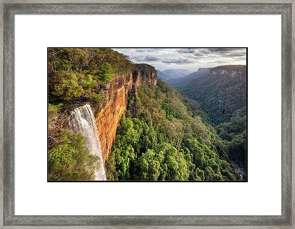 Fitzroy Falls Southern Highlands Nsw Framed Print by Australian Land, City, People Scape Photographer