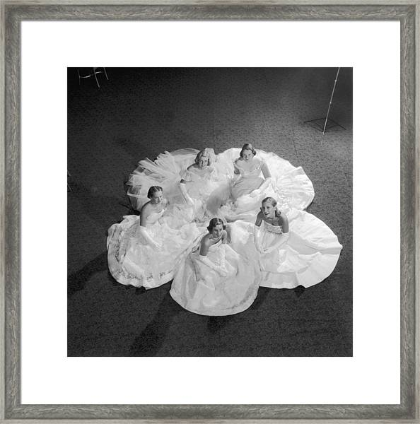 Five Debutantes Framed Print